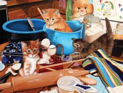 Kittens in the Kitchen Kitchen Jigsaw Puzzle