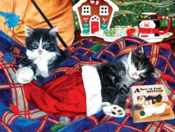 A Tale of Two Kitties Christmas Jigsaw Puzzle