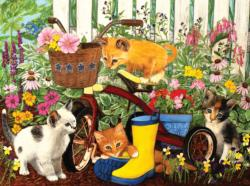 Can't Reach the Pedals Kittens Jigsaw Puzzle