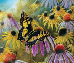 Swallowtail Vistor Flowers Jigsaw Puzzle