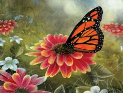 Monarch Butterfly Flowers Jigsaw Puzzle