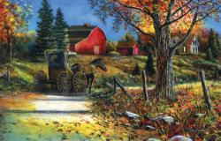 Country Roadside Fall Jigsaw Puzzle