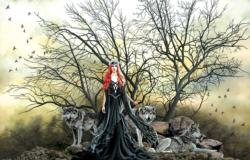 Red Haired Witch Fantasy Jigsaw Puzzle