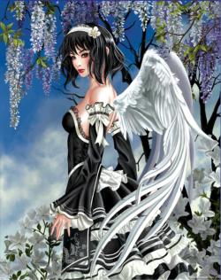 Angel and Flowers Angels Jigsaw Puzzle