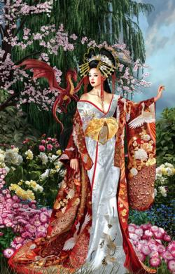 Queen of Silk Asian Art Jigsaw Puzzle