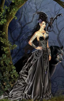 Mistress of the Lycani Fantasy Jigsaw Puzzle