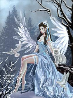 Winter Angel Snow Jigsaw Puzzle