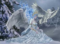 Spirit of Winter Owl Jigsaw Puzzle