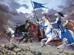 Knights Charge Horses Jigsaw Puzzle