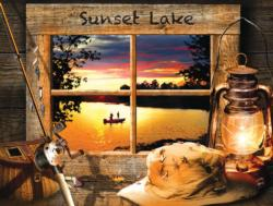Sunset Lake Sunrise/Sunset Jigsaw Puzzle