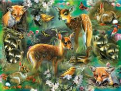 Forest Critters Collage Jigsaw Puzzle