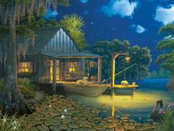 Bayou Moon Cottage / Cabin Jigsaw Puzzle