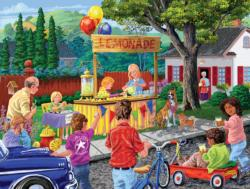 Neighborhood Lemonade Stand Outdoors Jigsaw Puzzle