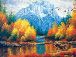 Moran Reflections Lakes / Rivers / Streams Jigsaw Puzzle