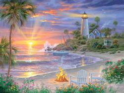 Honeymoon Sunset Sunrise / Sunset Jigsaw Puzzle