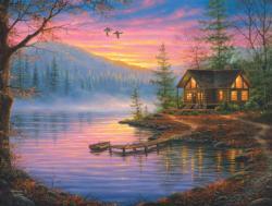 Morning Mist Sunrise / Sunset Jigsaw Puzzle