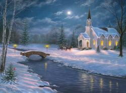 Peaceful Countryside Churches Jigsaw Puzzle