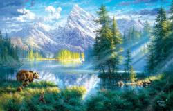 Mountain Morning Lakes / Rivers / Streams Jigsaw Puzzle