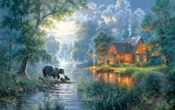Firefly Cove Cottage / Cabin Jigsaw Puzzle