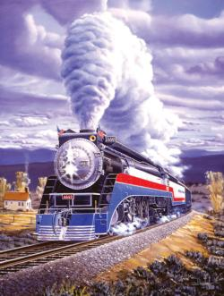 Steel Patriot Trains Jigsaw Puzzle