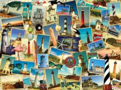Southern Lighthouses Collage Jigsaw Puzzle