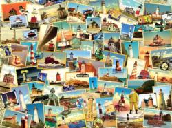 Northern Lighthouses Collage Jigsaw Puzzle