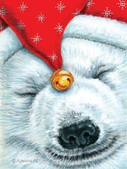 Snuggly Bear Christmas Large Piece