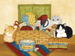 Cute as a Button Cats Jigsaw Puzzle