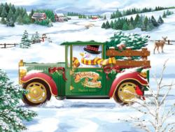 Snowman Delivery Snowman Jigsaw Puzzle