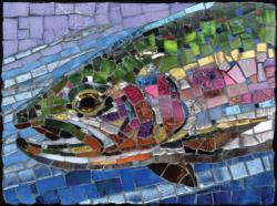 Stained Glass Rainbow Trout Fish Jigsaw Puzzle