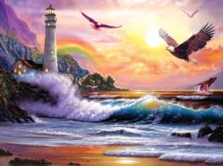 Keeping Watch Lighthouses Jigsaw Puzzle