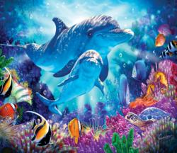 Dolphin Family Under The Sea Jigsaw Puzzle