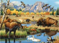 Wildlife Gathering Wildlife Jigsaw Puzzle