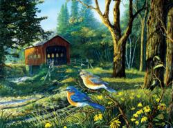 Sleepy Hollow Blue Birds Jigsaw Puzzle