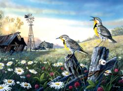 Meadow Outpost Birds Jigsaw Puzzle