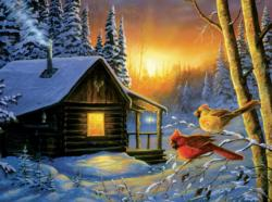 Golden Frost Winter Jigsaw Puzzle