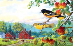 Old Orchard Hideaway Birds Jigsaw Puzzle