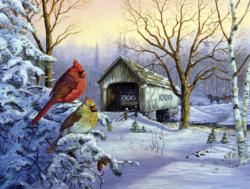 Snowy Haven Bridges Jigsaw Puzzle