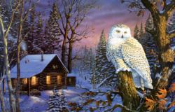Night Watch Cottage / Cabin Jigsaw Puzzle
