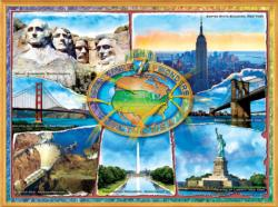 The 7 Manmade Wonders of the U.S.A. Jigsaw Puzzle