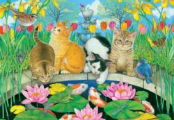 Fish Pond Pals Flowers Jigsaw Puzzle