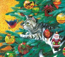 Christmas Tree Cat Christmas Jigsaw Puzzle