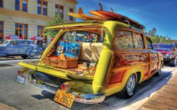Woody Wagon Nostalgic / Retro Large Piece