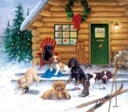 Christmas at the Cabin Cottage / Cabin Jigsaw Puzzle