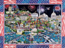 Fireworks over Washington DC Fireworks Jigsaw Puzzle