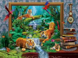 Out of the Jungle Surreal Jigsaw Puzzle