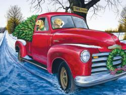 Tree Farm Winter Jigsaw Puzzle