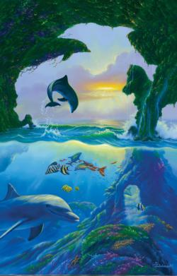 7 Dolphins Dolphins Jigsaw Puzzle