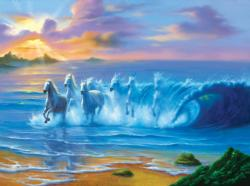 Wild Waves Sunrise/Sunset Jigsaw Puzzle