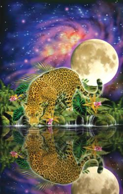 Leopard Moon Jungle Animals Jigsaw Puzzle